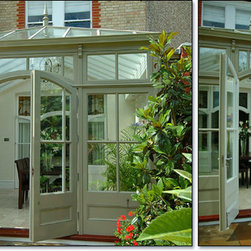 Glass Conservatory with Curved Entrance -