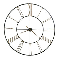 "Howard Miller - Howard Miller 49"" Wrought Iron Wall Clock 