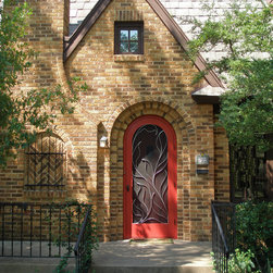 "Susan Wallace - ""Entwined""_what a great opportunity to design the screen door grillwork for one of Austin's finest Hyde Park area homes.  I love the challenge of designing for an arched doorway."