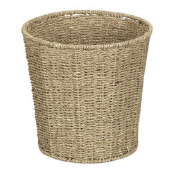 Household Essentials Woven Sea Grass Waste Bin - This natural sea grass waste bin is perfect for bathrooms or laundry rooms.