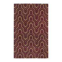 """Kaleen - Kaleen Revolution Collection REV01-87 2'3"""" x 8' Plum - The color Revolution is here! Trendy patterns with a fashion forward twist of the hottest color combinations in a rug collection today. Transform a room with the complete color makeover you were hoping for and leaving your friends jealous at the same time! Each rug is hand-tufted and hand-carved for added texture in India, with a 100% soft luxurious wool."""