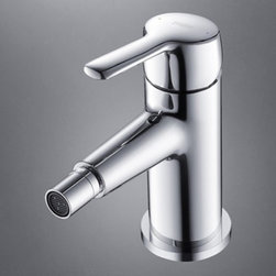 JollyHome - JollyHome Slidespray Sink Faucet,Polished Chrome - Bathroom Sink Faucets .Contemporary and minimalism.Chrome finish.Single Handle .All brass faucet