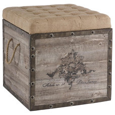Eclectic Ottomans And Cubes by Candelabra