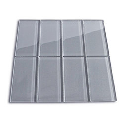 """CNK Tile - Ice Glass Subway Tile, Box of 11 Sq Ft - The ice subway tile is made from the strongest stain-resistant crystal clear glass. These tiles have a 8mm thickness that increases their durability and the depth of their color making them truly beautiful subway tiles. These subway tiles can be used for commercial or residential construction in either a wet or dry environment.  These subway tiles are sold by the square foot comprised of 8 mesh mounted tiles. The individual tiles measure 3""""x6""""."""