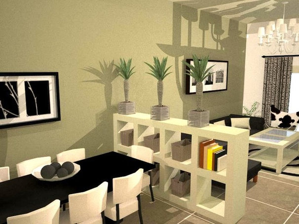 Contemporary Living Room by lilach shahaf