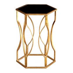 Joshua Marshal - Decorative Gold Leaf Anson Side Table - Decorative Gold Leaf Anson Side Table