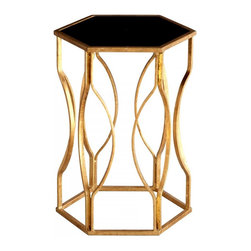 Joshua Marshal - Decorative Gold Leaf Anson Side Table - Decorative Gold Leaf Anson Side Table