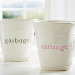 """Trash Can - Take things literally with this cute kids' trash can with """"garbage"""" written across the front. No mistaking what this is for!"""