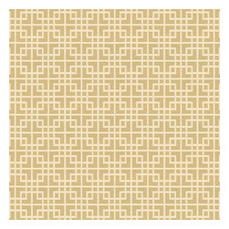Beige Woven Square Lattice Fabric - Interlocking square trellis woven in beige & white with a hint of sheen. Equal parts plush & posh.Recover your chair. Upholster a wall. Create a framed piece of art. Sew your own home accent. Whatever your decorating project, Loom's gorgeous, designer fabrics by the yard are up to the challenge!