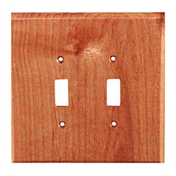 Sierra Lifestyles - Traditional - 2 Toggle - Alder Switchplate (BSH-682154) - Traditional - 2 Toggle - Alder Switchplate