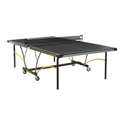 Stiga - Stiga Synergy Table Tennis Table Multicolor - T8690 - Shop for Table Tennis and Foosball from Hayneedle.com! Cross brace support an extra thick playing surface and tougher casters all make this Stiga table tennis table a sure winner among table tennis aficionados. The Stiga Synergy Table Tennis Table has the patented quickplay chassis design to get games going as quickly as possible but stores in an instant.Patented Quickplay chassis designWidespan technology2 inchsteel apronRegulation style edgebanding and stripingAbout STIGA AmericaSTIGA America is an industry benchmark against which all table-tennis equipment are measured. For over 70 years STIGA has been improving their products to meet or exceed industry standards until their equipment became the best and most trusted in the world. Not many sports equipment companies can boast the support of a multitude of multinational professional players but STIGA finds support from world-renowned players from China Sweden Belgium and Germany. These players not only support STIGA but provide valuable input and hands-on testing to make sure STIGA's paddles and other products are the best possible. Recently STIGA has expanded beyond providing equipment to consumers and has spearheaded a franchise of table-tennis social clubs known as SPiN Galactic in New York City Los Angeles Dubai and other worldwide locales.