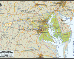 Murals Your Way - Maryland & District Of Columbia Wall Art - A map by EGLLC Maps, the Maryland & District of Columbia wall mural from Murals Your Way will add a distinctive touch to any room