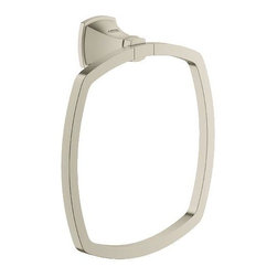 Grohe - Grohe Grandera Towel Ring, Brushed Nickel Infinity (40630EN0) - Grohe 40630EN0 Grandera Towel Ring, Brushed Nickel Infinity