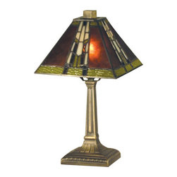 Dale Tiffany - Dale Tiffany TA13064 Charwood Mission 1 Light Table Lamp - Features: