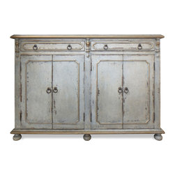 Buffets and Sideboards - These subtle and soft toned hand painted furnishings are both old and new, that is old world style with new finish colors! Take a step into an exclusive design world with our custom made Tuscan and Old World furniture!