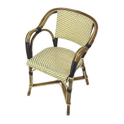 Authentic French Cafe Chair - These beautiful French bistro chairs have all the sculptural style of bent wood chairs with an added woven detailing that gives them Parisian flair.