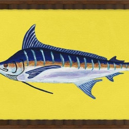Wendover Art - Blue Marlin - This striking Giclee on Paper print adds subtle style to any space. A beautifully framed piece of art has a huge impact on a room for relatively low cost! Many designers and home owners select art first and plan decor around it or you can add artwork to your space as a finishing touch. This spectacular print really draws your eye and can create a focal point over a piece of furniture or above a mantel. In a large room or on a large wall, combine multiple works of art to in the same style or color range to create a cohesive and stylish space!