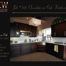 Transitional Kitchen Cabinets by GCW Custom Kitchens & Cabinetry Inc.
