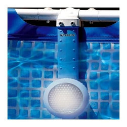 Smart Pool Nitebrite Light for Above Ground Pools - Bring your pool to life at night with the Smart Pool Nitebrite Light for Above Ground Pools for metal frame pools. Illuminate your Intex-style metal frame pool in minutes with this simple clamp-on design underwater light. No need to drain your pool or drill holes. Mounts on soft-sided pools with up to a 2 diameter frame. This economical light has a patented reflector engineered for maximum illumination. 35-watt long-life halogen bulb provides sufficient light for most pool sizes. 12-volt, 35-watt outdoor pool transformer. 28-foot cord. UL/CETL certified. 6-month warranty.About SplashNet XpressSplashNet Xpress is dedicated to providing consumers with safe, high-quality pool products delivered in a fast and friendly manner. While it's adding new product lines all the time, SplashNet Xpress already handles pool maintenance items, toys and games, cleaning and maintenance devices, solar products, and aboveground pools.