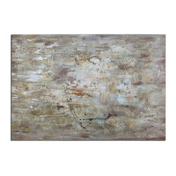 Uttermost - Hand Painted Canvas Middle 48In.W X 70In.H Abstract Painting - Hand Painted Canvas Middle 48In.W X 70In.H Abstract Painting