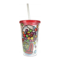 Westland - 9 Inch Gumball Machine Painted Tumbler with Straw, 16 Oz. - Red - This gorgeous 9 Inch Gumball Machine Painted Tumbler with Straw, 16 oz. - Red has the finest details and highest quality you will find anywhere! 9 Inch Gumball Machine Painted Tumbler with Straw, 16 oz. - Red is truly remarkable.