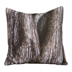 "Kuchi Kuu - Key Biscayne Woodland Collection Artisan Pillow, 18"" x 18"" - Eco-friendly, artisan pillow covers are created from photographic images found in nature that are applied to organic cotton twill using water-based inks.  Pillow inserts are a 10/90 combination of down and feathers.  The pillow covers can be hand washed in cold water or dry cleaned."