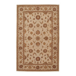"""Nourison - Nourison Heritage Hall HE08 5'6"""" x 8'6"""" Ivory Area Rug 19311 - Indulge in ivory with this aristocratic textile. Beautifully conceived in lush floral forms, and gorgeously woven in delicate tones, it has all the patina of a priceless antique, yet is wonderfully at ease in the modern home."""