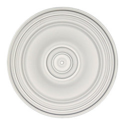 uDecor - MD-7034 Ceiling Medallion - Ceiling medallions and domes are manufactured with a dense architectural polyurethane compound (not Styrofoam) that allows it to be semi-flexible and 100% waterproof. This material is delivered pre-primed for paint. It is installed with architectural adhesive and/or finish nails. It can also be finished with caulk, spackle and your choice of paint, just like wood or MDF. A major advantage of polyurethane is that it will not expand, constrict or warp over time with changes in temperature or humidity. It's safe to install in rooms with the presence of moisture like bathrooms and kitchens. This product will not encourage the growth of mold or mildew, and it will never rot.