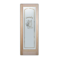 Sans Soucie Art Glass - Wringer Glass Laundry Room Door - Laundry Room Door with Sandblast Etched Glass - Wringer Glass Laundry Room Door - Quality, hand-crafted sandblast etched glass.
