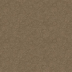 York - Dc1417 Layered Cont Damask Floral Wallpaper - DC1417 Layered Cont Damask from Iridescent is a metallic gold floral damask wallpaper that looks like a field of daisies.