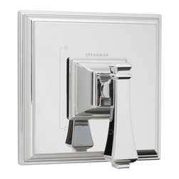 Speakman - Speakman Rainier Collection Pressure Balance Valve and Trim in Polished Chrome - Speakman's Rainier Pressure Balance Valve & Trim adds a unique square design to complete a bold look in the bathroom. The Rainier chrome faucet prevails a striking masculine update to your traditional styled bathroom fixtures. The newest design collection to the Speakman family; the Rainier bathroom collection pairs with the Rainier Showerhead and other bathroom accessories to present iconic exclusivity in any bathroom.