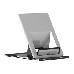 Herman Miller - Lapjack Portable Laptop Holder - This adjustable desktop stand props up your laptop so it's right for you and your needs. It features slots in the base to customize the height of the angled laptop screen. The stand is also foldable for easy portability.