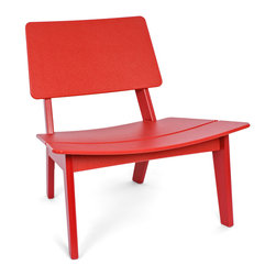 Loll Designs - Lago Chair, Apple Red - This streamlined chair makes posture pleasurable. It keeps you wonderfully positioned, as the subtle scoop design gently envelops you in comfort.