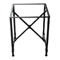 Mathews & Company - Burlington End Table Base Only - This contemporary Burlington End Table Base Only allows you to use your own table top such as granite, custom wood, stone, or glass. Pictured in Black finish.