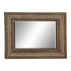 Sparkling and Unique Styled Metal Wall Mirror - Description: