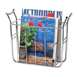 Spectrum Diversified Designs - Euro Magazine Basket - Keep your home and office organized with the Euro Magazine Basket. This slim rack neatly stores all of your standard size magazines and periodicals. Made of sturdy steel, its clean design will add a modern touch to your home.