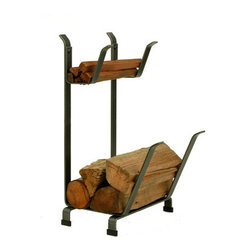 """Enclume - Premier Country Home Log Rack With Kindling Holder - Dimensions: 16""""L x 13""""W x 27""""H"""