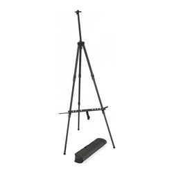 Martin Universal - Martin Universal Prestige XL Field Easel - 92-AE019 - Shop for Art Easels from Hayneedle.com! The Martin Universal Prestige XL Field Easel makes it easy to store and take your art with you. It's crafted of 1.5-inch dimensional aluminum stock that is both lightweight and strong. It can adjust from a tabletop size to a full-sized easel quickly and easily. It accommodates up to a 33-inch canvas and features both a brush holder and brush bath holder. The retractable metal legs have non-skid rubber feet to keep it stable. This easel folds easily into a small size and comes with handy carrying bag with strap which makes it easy to store and transport.About Martin Universal Design Inc.Over 40 years ago Dennis Kapp founded Martin Universal Design Inc. which incorporated the wholesale importing and manufacturing of Northwest Blue Print the company Mr. Kapp's father founded in 1946. The Kapp family then purchased a business started by Ray Martin who was the first designer and crafter of drafting templates in the United States. Since then the family has been carrying on the tradition of creating high-quality artist accessories and furniture. Today Martin Universal Design Inc. supplies the art industry with a complete range of quality artist accessories drafting tables materials and tools.