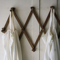 Large Wooden Peg Rack by Little Byrd Vintage - A vintage drying rack is the perfect place to hang towels and beach bags.