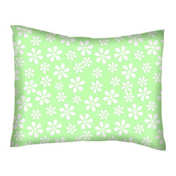 SheetWorld - SheetWorld Twin Pillow Case - Percale Pillow Case - Pastel Green Floral Woven - Twin pillow case. Made of an all cotton flannel fabric. Side Opening. Features the one and only pastel green floral woven!