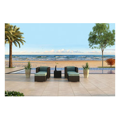 Urbana 3-Piece Patio Club Chair Set, Spa Cushions