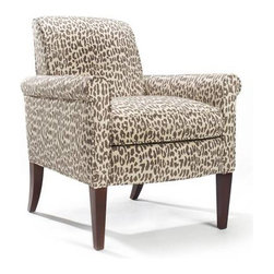 Homeware Chairs - Rothes chair in Linen. Animal hides are the peak of chic, but they're at their best faux and linen like. This tan-and-brown animal print is fully domesticated.