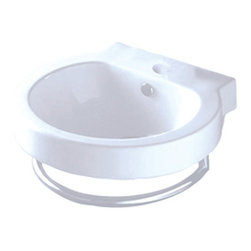 Kingston Brass White China Vessel Bathroom Sink With