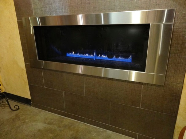 Modern Indoor Fireplaces by Fireplace Warehouse ETC