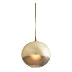 Arteriors - Arteriors Home - Lily Pendant - 46653 - This one light leopard silveria glass sphere pendant has a beautiful candle-like golden glow when lit. A unique and beautiful example of ombre coloration.