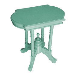 EuroLux Home - New Side Table Blue Painted Hardwood - Product Details