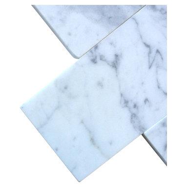 All Marble Tiles - Bianco Carrara 3x6 Honed Marble Tile - Finish: Honed