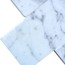 All Marble Tiles - Bianco Carrara 3x6 Honed Marble Tile - Finish: Honed