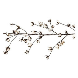 Home Decorators Collection - Cotton Garland - Drape your table or mantel with our Cotton Garland to bring a festive fall feel to your harvest decor. This wire garland is peppered with real cotton buds. Real cotton on wire stem with floral tape.
