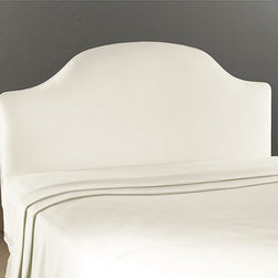 Ballard Designs - Camden Untufted Headboard Full - Hardwood frame. Artisan crafted in North Carolina. Available in Off-White Twill. Special Order in your choice of fabrics. Mattress not included. Create an inviting, custom look with our exclusive padded Camden Untufted Headboard. We have improved the construction of this headboard so that the legs adjust to accommodate your mattress height.Camden Untufted Headboard features:  .  . . . .
